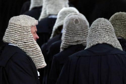 قضات در مراسم آغاز سال جدید قضایی در هنگ کنگ
