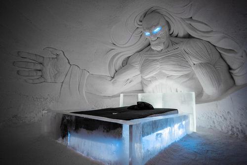هتل یخی الهام گرفته از سریال