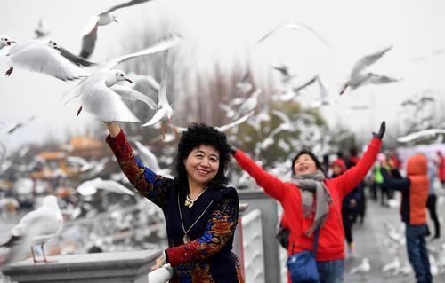 دریاچه دیانچی در شهر کومینگ چین