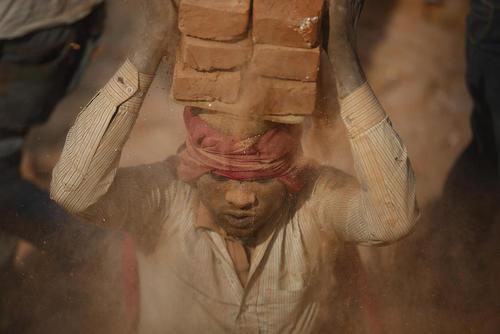 کارگاه آجرسازی در باختاپور نپال