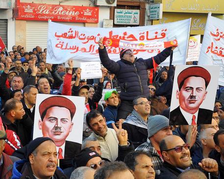 هفتمین سالگرد پیروزی انقلاب مردم تونس علیه حکومت