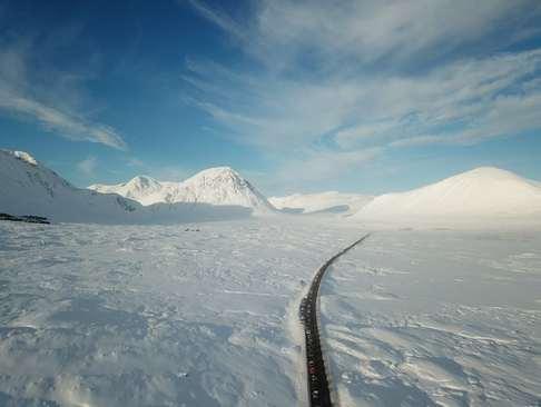 ترافیک سنگین یک پیست اسکی در اسکاتلند