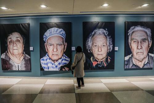 نمایشگاه بازماندگان هولوکاست در مقر سازمان ملل متحد در نیویورک