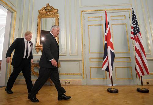 دیدار وزرای امور خارجه آمریکا و بریتانیا – لندن