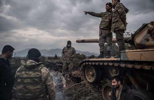 سربازان ترکیه در مرز سوریه