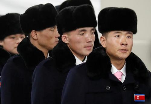 ورود ورزشکاران کره شمالی به دهکده محل برگزاری المپیک زمستانی