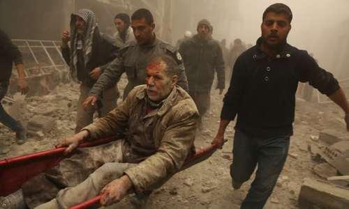 حمله هوایی به مناطق تحت کنترل مخالفان مسلح حکومت سوریه در حومه دمشق/ عکس: آناتولی