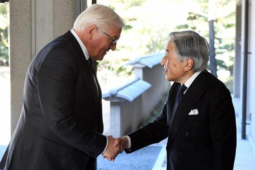 دیدار رییس جمهوری آلمان با امپراتور ژاپن در توکیو