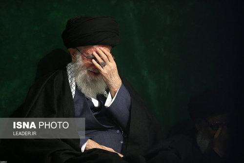 عزاداری شب شهادت فاطمه زهرا با حضور مقام معظم رهبری (عکس)