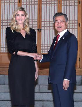 دیدار ایوانکا ترامپ با رییس جمهوری کره جنوبی- سئول/ عکس: خبرگزاری یونهاپ