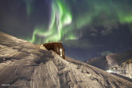 شفق قطبی در ارتفاعات روسیه (عکس)