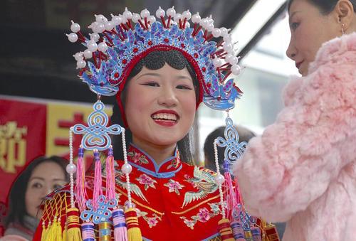 جشن سال نو چینی در منطقه چینی – چاینا تاون- شهر نیویورک آمریکا