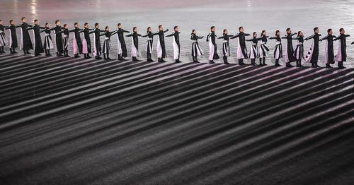 نمایشهای مراسم اختامیه المپیک زمستانی 2018 در ورزشگاه المپیک پیونگ چانگ کره جنوبی