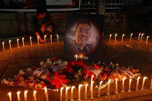 مراسم سومین سالگرد ترور یک وبلاگ نویس سکولار در داکا بنگلادش