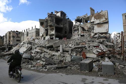 ویرانههای جنگ در شهر دوما سوریه