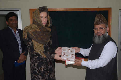 بازدید الیزابت ترودو سرکنسول ایالات متحده آمریکا در لاهور پاکستان از دانشگاه اسلامی