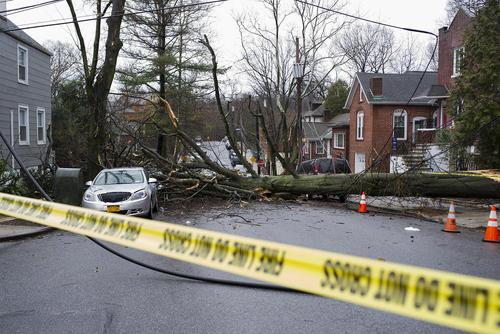 صدمات ناشی از توفان در شهر نیویورک آمریکا