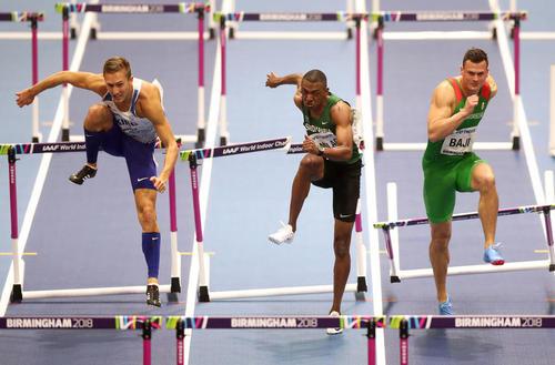 دو 60 متر با مانع در مسابقات جهانی دوومیدانی سالنی در بیرمنگام انگلیس