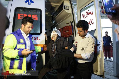 آسیب دیدگان حوادث چهارشنبه سوری - بیمارستان فارابی تهران