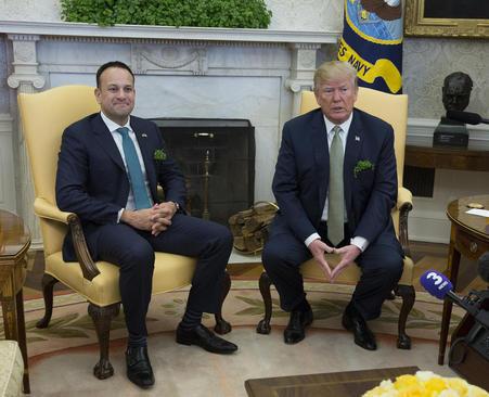 دیدار نخست وزیر ایرلند با دونالد ترامپ در کاخ سفید