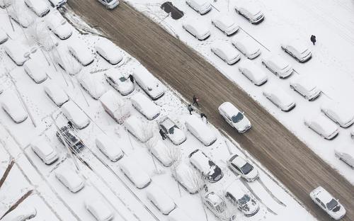 بارش برف در شهر شنیانگ چین
