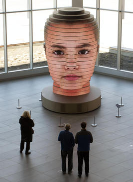 مجموعه مجسمههای سه بعدی و دیجیتال از صورت انسان اثر
