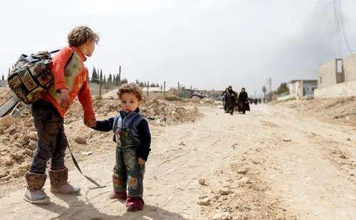فرار غیرنظامیان غوطه شرقی سوریه- عکس: خبرگزاری فرانسه