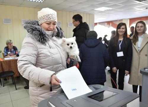 رایگیری انتخابات ریاست جمهوری روسیه – ولادی وستک/عکس: ایتارتاس