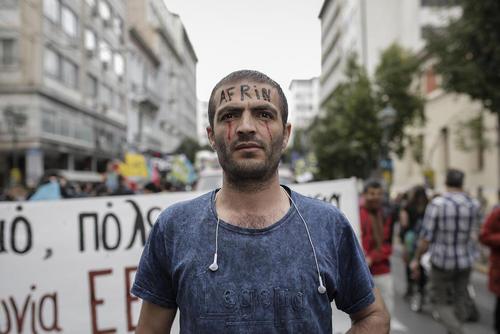 تظاهرات علیه نژاد پرستی و جنگ در آستانه روز جهانی مقابله با تبعیض نژادی- آتن