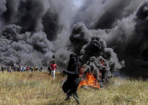 ادامه تظاهرات ضد اسراییلی فلسطینیها در مرز غزه؛ عکسها: DPA و APA