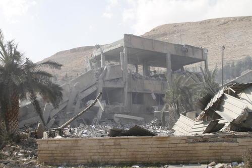 ویران شدن یک مرکز تحقیقات نظامی سوریه در منطقه
