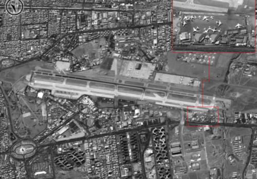 تصاویر ماهواره ای منتشره اسراییل از پایگاه های هوایی سوریه