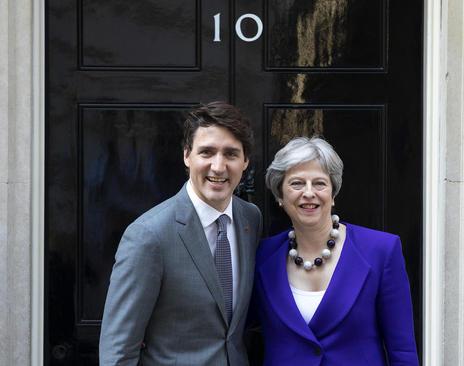 دیدار نخست وزیران بریتانیا و کانادا در مقر نخست وزیری بریتانیا در لندن