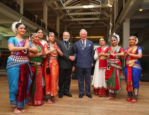 در حاشیه دیدار نخست وزیر هند با ولیعهد بریتانیا در موزه علوم بریتانیا در لندن