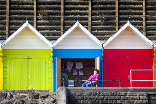 کلبههای ساحلی در یورکشایر بریتانیا