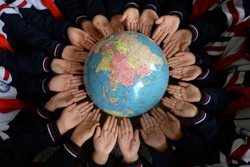 کلاس آموزش محافظت از محیط زیست در مدرسهای ابتدایی در هاندان چین