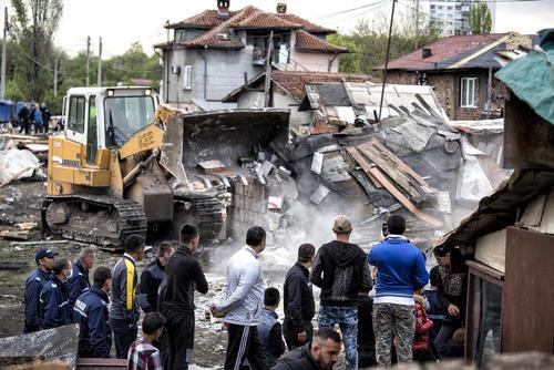 تخریب خانههای غیرقانونی در شهر صوفیه پایتخت بلغارستان
