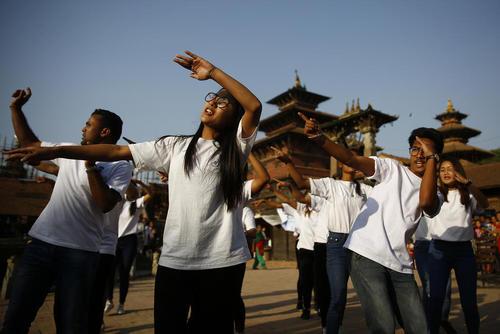 مراسم جشن روز زمین در لالیتپور نپال