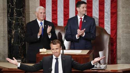 سخنرانی رییس جمهوری فرانسه در جمع اعضای کنگره آمریکا در واشنگتن