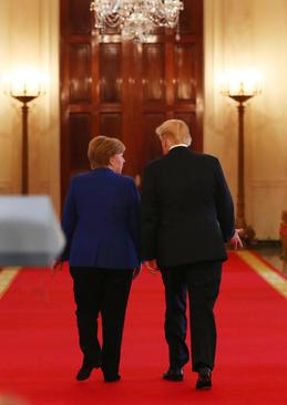دیدار رهبران آمریکا و آلمان در کاخ سفید/ خبرگزاری آلمان