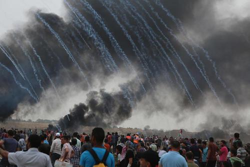 ششمین جمعه اعتراضات سراسری فلسطینیها علیه اشغالگری اسراییل در مرز باریکه غزه