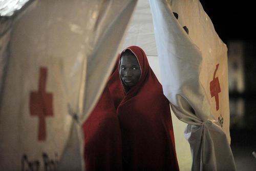 اردوگاه پناهجویان آفریقایی در مالاگا اسپانیا