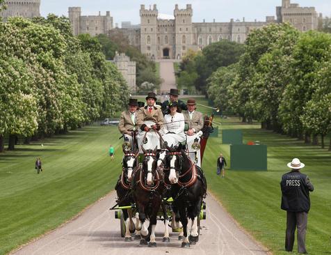 نمایش سالانه اسب سلطنتی در قلعه وینسور بریتانیا