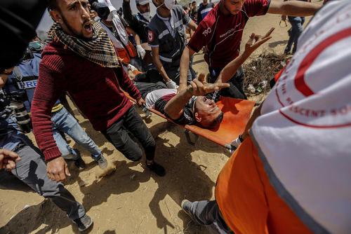 تظاهرات ضد اسراییلی در مرز باریکه غزه و اسراییل