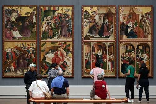 تابلوی نقاشی بزرگ متعلق به قرن پانزدهم در موزه هنر در برلین