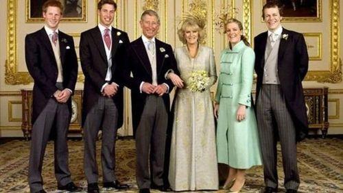 شاهزاده چارلز و کامیلا در روز عروسی در نهم آوریل ۲۰۰۵