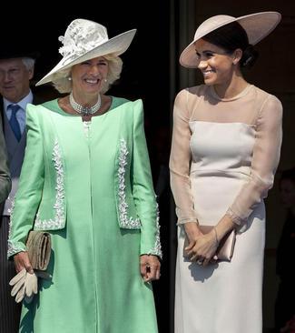 عروس جدید خانواده سلطنتی بریتانیا در مراسم جشن تولد هفتاد سالگی نامادری همسرش در کاخ باکینگهام در لندن
