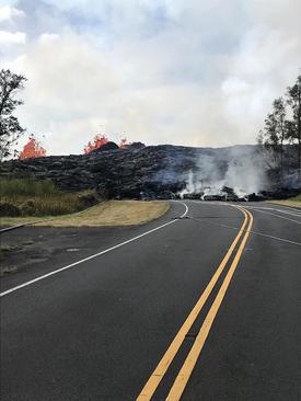 فوران گدازههای آتشفشانی در هاوایی آمریکا