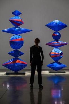 نمایش اثر یک هنرمند کره جنوبی در یک گالری هنری در لندن