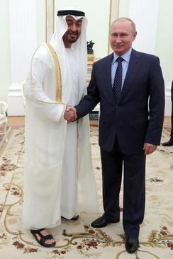 دیدار ولیعهد امارات متحده عربی با ولادیمیر پوتین در کاخ کرملین در مسکو/ ایتارتاس
